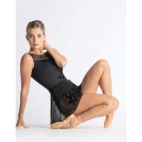 Ballet Rosa Leonie Zwart Wikkelrokje met Bloemenmotief