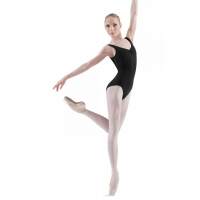 Bloch Adagio Tank leotard with Pinch Front Zwart