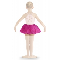 Bloch Addelyn Heart Mesh Tutu Skirt CR8111 Dark Pink