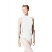 Lulli Anna LUB253 wit balletpakje dames hoge hals
