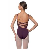 Lulli LUB224C Veronica aubergine Balletpakje lage rug
