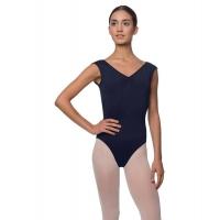 Lulli Peyton LUB222 Dames Balletpak navy met korte mouwtjes