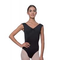 Lulli Peyton LUB222 Dames Balletpakje zwart met v-hals