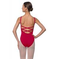 Lulli Veronica LUB224C rood Balletpakje met gekruiste rug