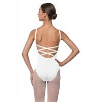 Lulli Veronica LUB224C wit Balletpakje met gekruiste bandjes